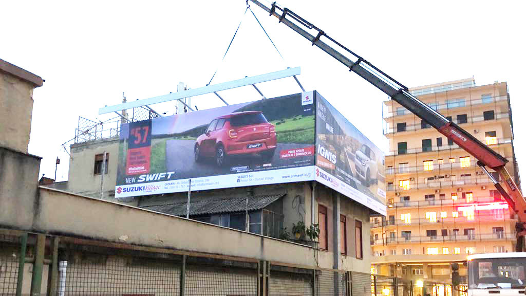 installazione pubblicità